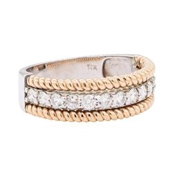 14KT White And Rose Gold 0.66 ctw Diamond Ring