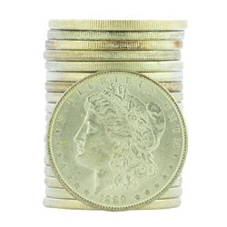 Roll of (20) 1889 $1 Brilliant Uncirculated Morgan Silver Dollar Coins