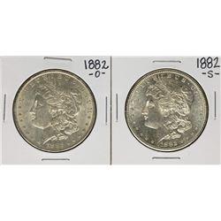 Lot of 1882-O & 1882-S $1 Morgan Silver Dollar Coins