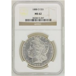 1888-O $1 Morgan Silver Dollar Coin NGC MS62