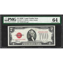 1928F $2 Legal Tender Note Fr.1507* PMG Choice Uncirculated 64