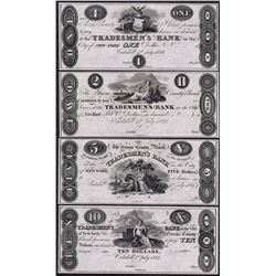 Lot of (4) 1823 Tradesman Bank Obsolete Notes