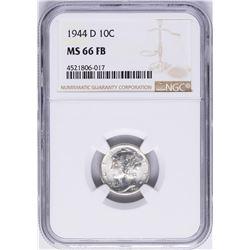 1944-D Mercury Dime Coin NGC MS66FB