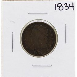 1834 Draped Bust Half Cent Coin