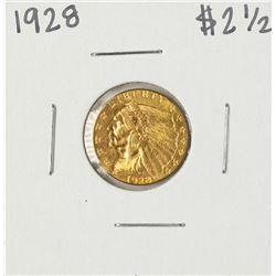 1928 $2 1/2 Indian Head Quarter Eagle Gold Coin
