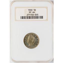 1900 Proof Liberty Nickel Coin NGC PF64