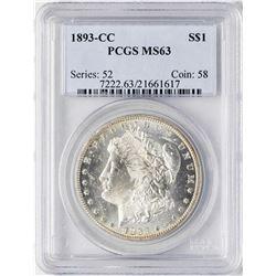 1893-CC $1 Morgan Silver Dollar Coin PCGS MS63
