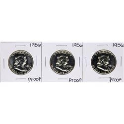 Lot of (3) 1956 Proof Franklin Half Dollar Coins