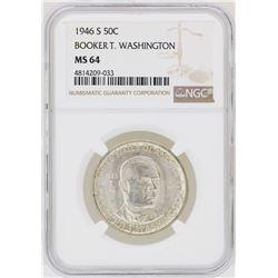 1946-S Booker T. Washington Memorial Half Dollar Coin NGC MS64