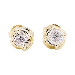 14KT Yellow Gold 0.30 ctw Diamond Stud Earrings