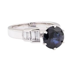 14KT White Gold 3.14 ctw Sapphire And Diamond Ring