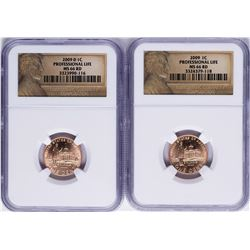 Lot of 2009 Lincoln Cent Professional Life Coins NGC MS66RD