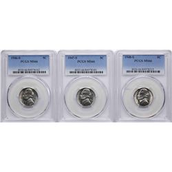 Lot of 1946-S to 1948-S Jefferson Nickel Coins PCGS MS66