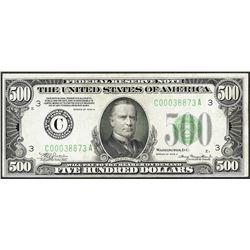 1934A $500 Federal Reserve Note Philadelphia