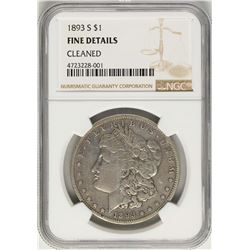 1893-S $1 Morgan Silver Dollar Coin NGC Fine Details