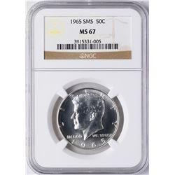 1965 SMS Kennedy Half Dollar Coin NGC MS67