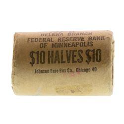 Original Bank Roll of (20) Brilliant Uncirculated 1963-D Franklin Half Dollar Co