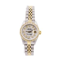 Rolex Ladies Oyster Perpetual Datejust Stainless Steel and 18KT Yellow Gold Wris