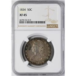 1834 Capped Bust Half Dollar Coin NGC XF45