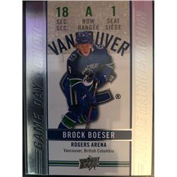 2018-19 Upper Deck Tim Horton's Brock Boeser
