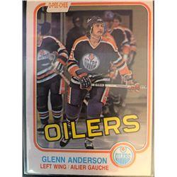 1981-82 O-Pee-Chee Rookie Glenn Anderson Card #108
