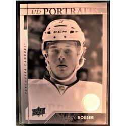 2017-18 Upper Deck Rookie Portraits Brock Boeser #P-58