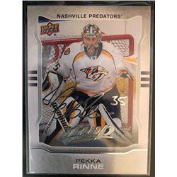 2014-15 MVP Silver Script Pekka Rinne Card #268