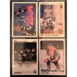 Wayne  Gretzky 4 Card Lot 1991-92 Upper Deck #437,