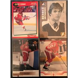 Steve Yzerman 4 Card Lot 2005-06 Heroes And Prospects