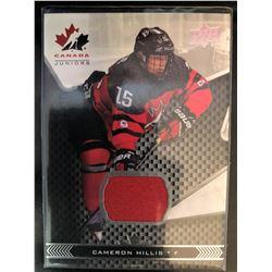 2018 Upper Deck Team Canada Jersey Cameron Hillis