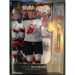 2017-18 Upper Deck Nico Hischier NHL Firsts Card #NF-19