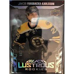 2017-18 SPX Lustrous Rookies Jakob Forsbacka-Karlsson