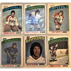 6 Card Lot 1976-77 O-Pee-Chee Bernie Wolfe,Tony White,