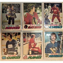 6 Card Lot 1977-78 O-Pee-Chee Randy Holt,Willi Plett,