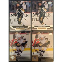 Sidney Crosby 4 Card Lot 2013-14 Upper Deck X 2