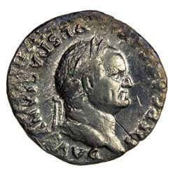 ROMAN EMPIRE: Vespasian, 69-79 AD, AR denarius (2.38g), Rome mint, 75. VF