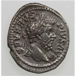 ROMAN EMPIRE: Septimius Severus, 193-211 AD, AR denarius. F-VF