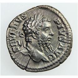 ROMAN EMPIRE: Septimius Severus, 193-211 AD, AR Denarius (3.49g), Rome, 209. VF