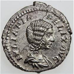 ROMAN EMPIRE: Julia Domna (under Caracalla), AR denarius (2.91g), Rome, [211]. EF