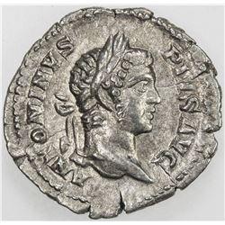 ROMAN EMPIRE: Caracalla, 198-217 AD, AR denarius. EF
