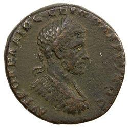 ROMAN EMPIRE: Macrinus, 217-218 AD, AE 24, Markianopolis, Moesia Inferior. F
