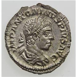 ROMAN EMPIRE: Elagabalus, 218-222 AD, AR Denarius (3.07g), Rome, 221. VF