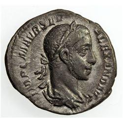 ROMAN EMPIRE: Severus Alexander, 222-235 AD, AR Denarius (2.69g), Rome, 227. VF