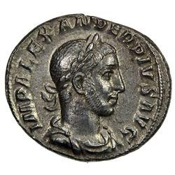 ROMAN EMPIRE: Severus Alexander, 222-235 AD, AR Denarius (3.37g), Rome, 231-235. VF-EF