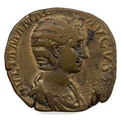 ROMAN EMPIRE: Julia Mammaea, 222-235, AE sestertius (15.79g). F