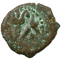 ANCIENT JUDEA: Valerius Gratus, 15-26 AD, AE prutah (1.51g), Jerusalem, 16-17. VG