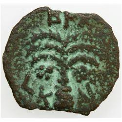 ANCIENT JUDEA: Antonius Felix, 52-60 AD, AE prutah (2.07g), Jerusalem, 54. F