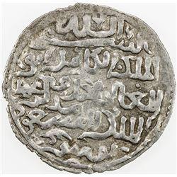 AYYUBID OF YEMEN: al-Mas'ud Yusuf, 1214-1228, AR dirham (2.19g), 'Adan, AH625. VF-EF