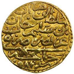 OTTOMAN EMPIRE: Murad III, 1574-1595, AV sultani (3.35g), Canca, AH982. EF