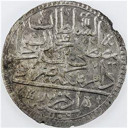 TURKEY: Mustafa III, 1695-1703, AR kurush, Edirne, AH1106. VF-EF